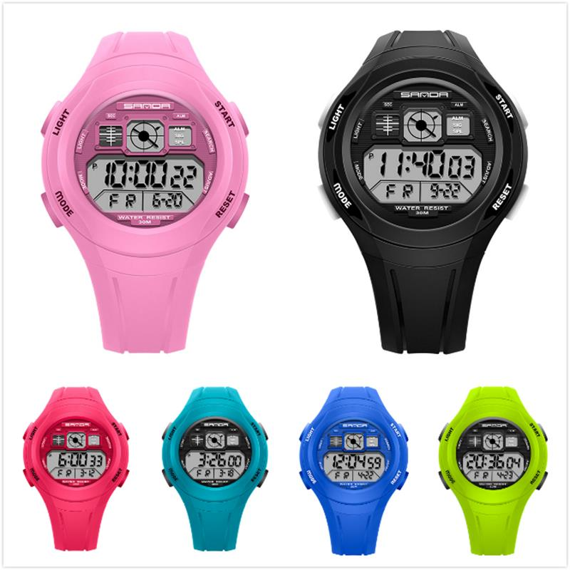 Casual Big Dial Colorful Jelly LED Digital Watches Professional Student Sport Watch Multifunction Waterproof Children Watches