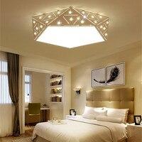 Yaratıcı geometrik lambaları odası lambası odası yatak odası aydınlatma toptan modern kişilik yuvarlak elmas led tavan ışıkları