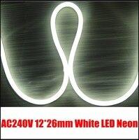 12 V Mini beyaz neon flex tabela dekorasyon aydınlatma için lot başına 10 Metre, DIY ev aydınlatma