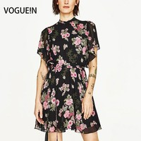 VOGUE N New Womens Ladies Sexy Back Open Floral Print Light Weight Mini Dress Wholesale