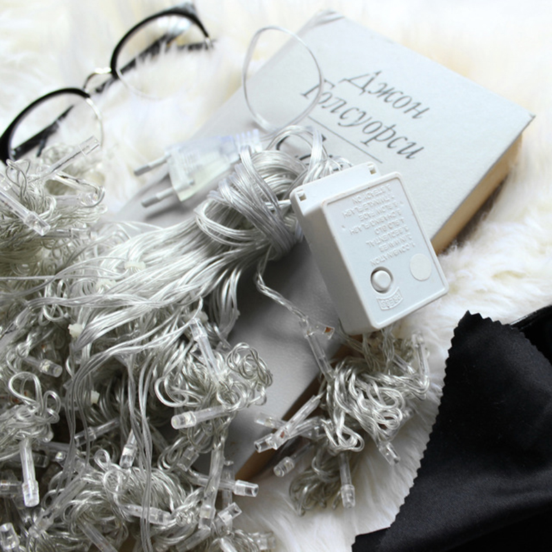 6 M X 3 M 600 LED Kerst Xmas String Fairy Bruiloft Icicle Gordijn - Vakantie verlichting - Foto 5