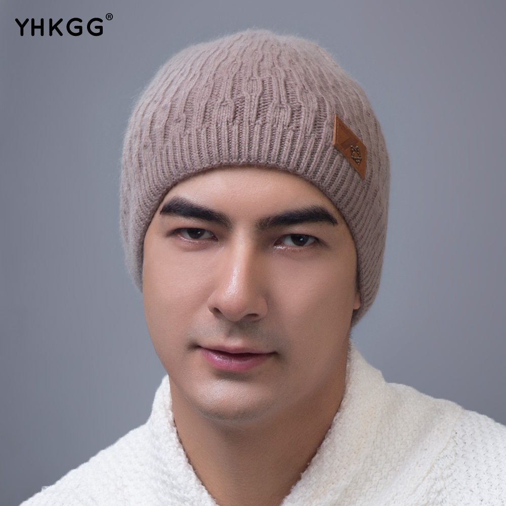 YHKGG 2017 New Fashion Woman's Warm Woolen Winter Hats Knitted Fur Cap For Woman  State Letter Skullies & Beanies skullies beanies winter woman fashion knitting hats with pompom beanies girls warm letter b cap