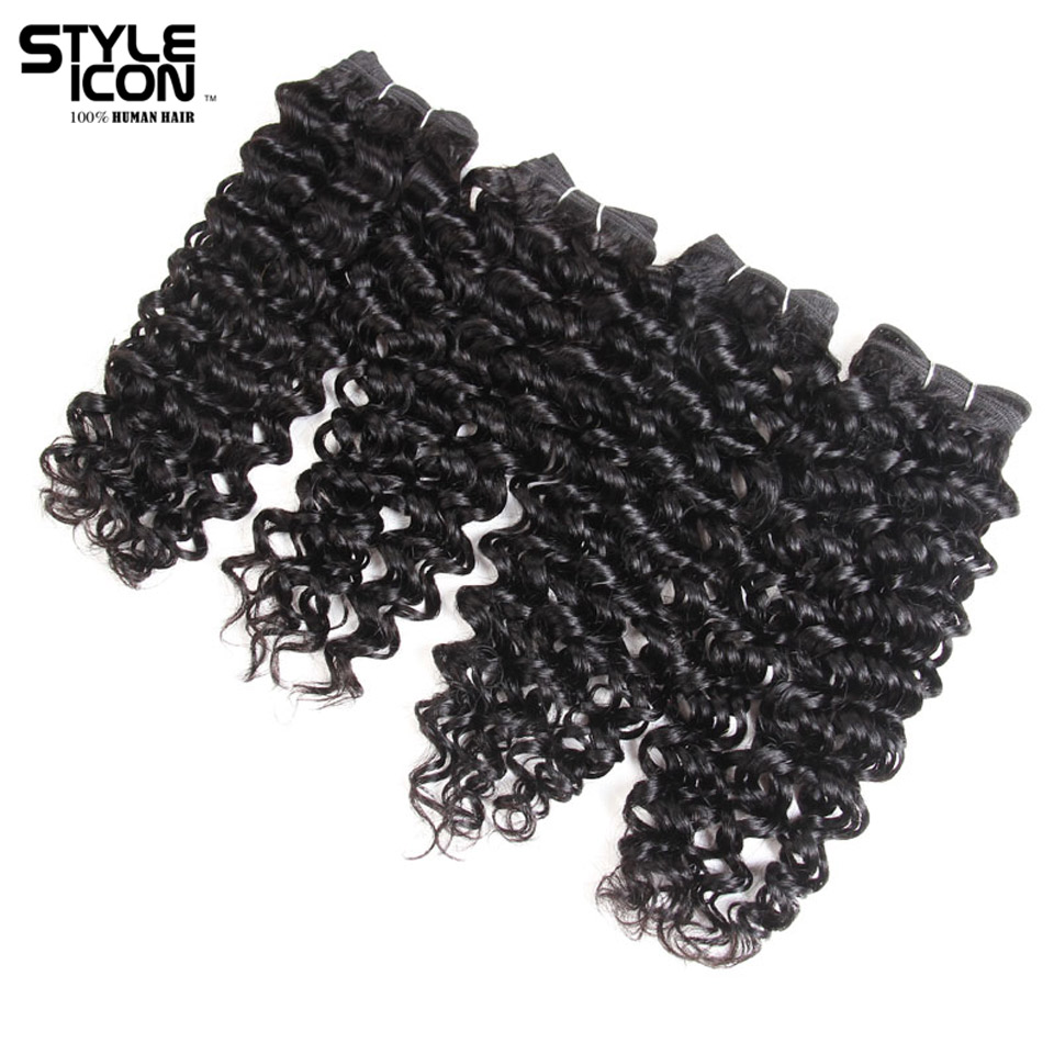 Styleicon Brazilian Jerry Curly Hair Wave Weave 4 Bundles Deal 190G 1 Pack Human Hair Bundles Non Remy Hair Extensions Free Ship