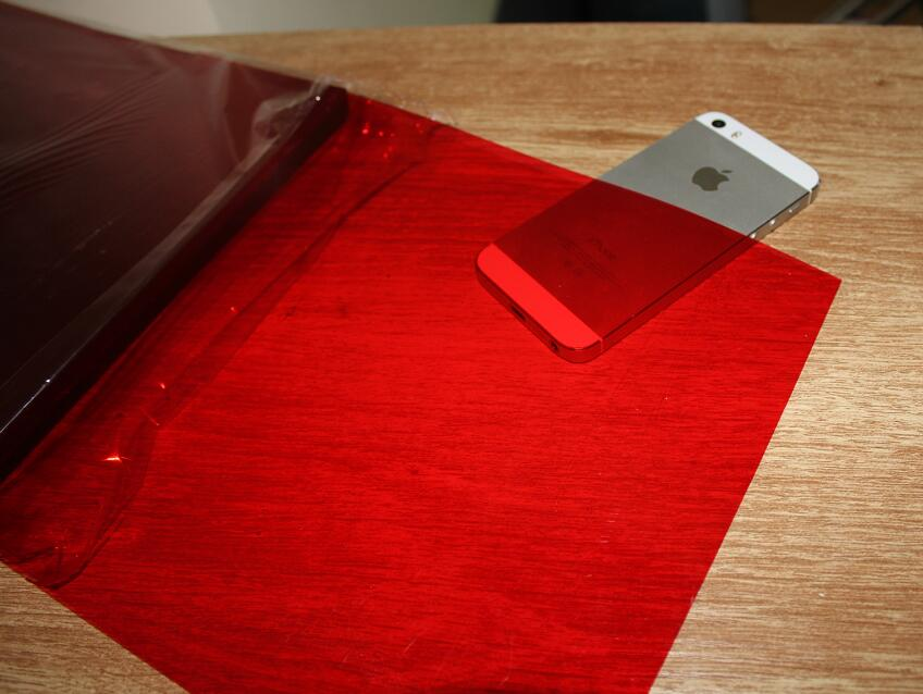 цена 2 to 50 Sheets 0.2mm A4 Clear Red Transparent Plastic 200 Micron PVC Sheet 210*297mm