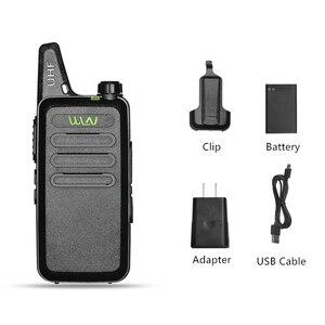 Image 5 - Walkie Talkie Mini WLN KD C1 Radio de dos vías para carreras de coches KDC1 CB estación de Radio aficionado UHF portátil inalámbrico FM transceptor