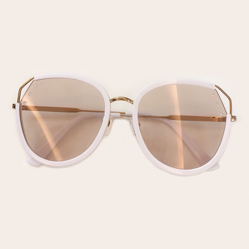 Women Oval Sunglasses High Quality UV400 Protection Polarized Sunglasses Metal Frame Eyeglasses Oculos De Sol