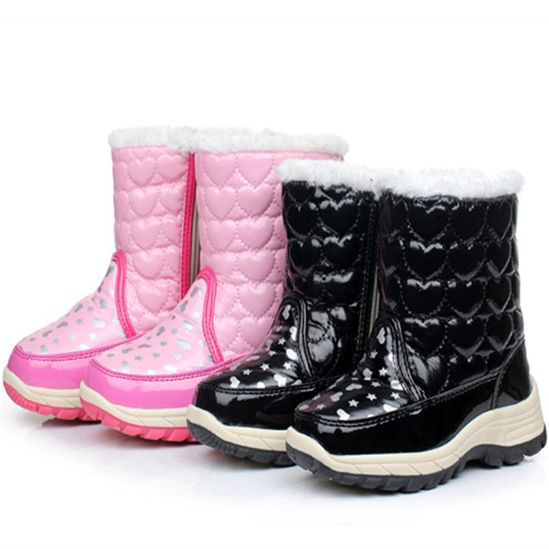 ФОТО Winter Autumn Child Boots Princess Snow Boots High Suede Leather Female Male Child Tassel Martin Boots chaussure enfant garcon