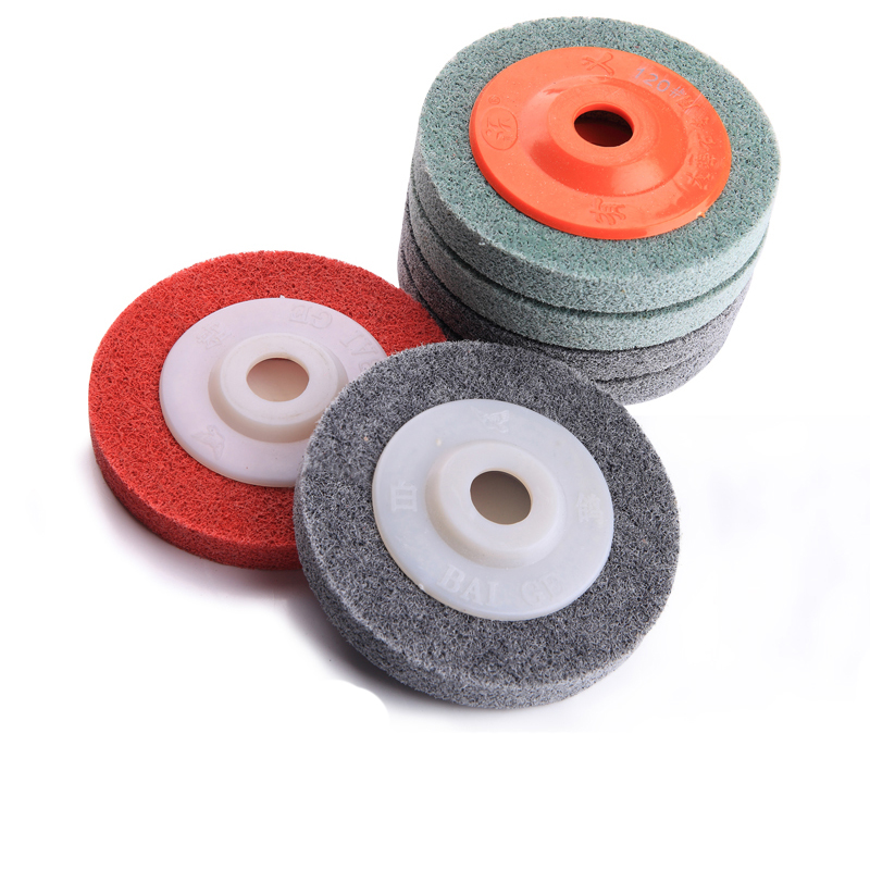 6inch Non-Wove Fiber Buffing Wheel Abrasive Polish Wheel Grinding Nylon Wheel