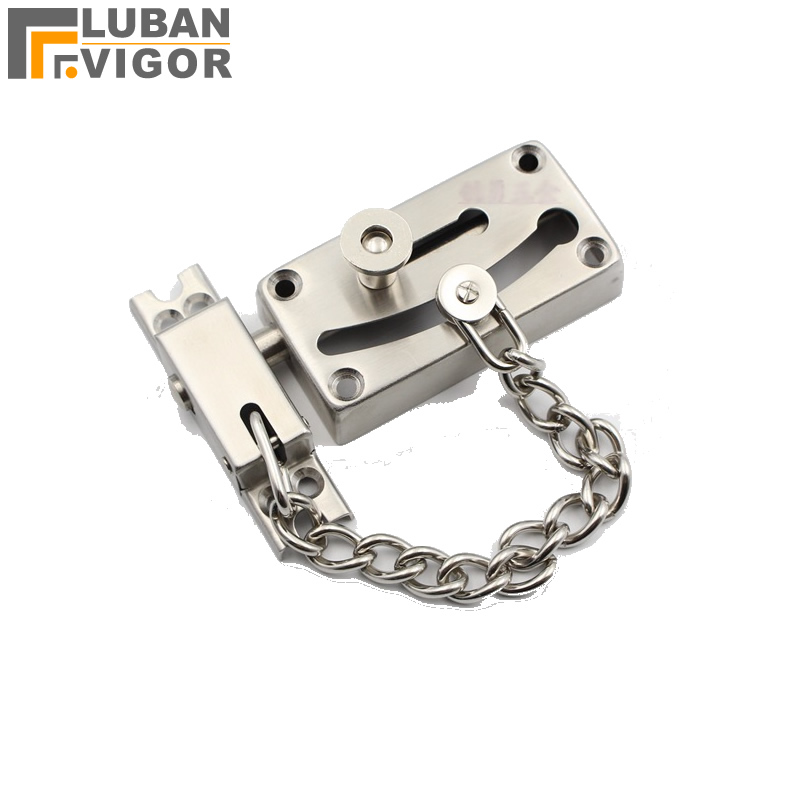 High security,Stainless steel Anti-Thief Door Chain bolt/latch/Lock,18cm Safety chain buckle,Protecting the family top 304 stainless steel dilator open anal expander heavy butt plugs ass plug metal buttplug anus stimulator sex toys