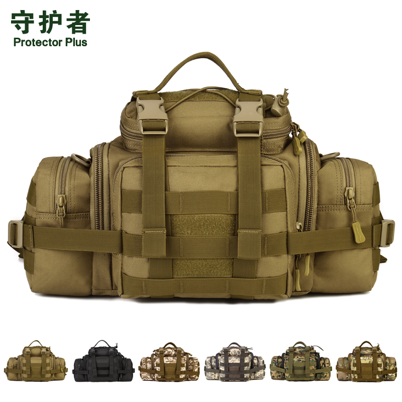 цена на Protector Plus Y111 Outdoor Sport Bag Camouflage Nylon Tactical Military Waist Pack Hiking Bag Handbag