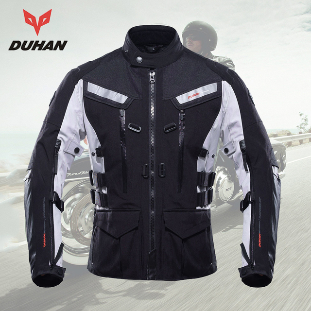DUHAN chaqueta de la motocicleta impermeable Motocross equipo de equitación equipo frío prueba Moto chaqueta de los hombres al aire libre chaqueta de deportes