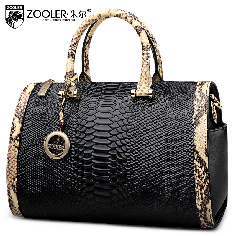 Фото ZOOLER 2017 top handle women bag genuine leather handbags boston pillow bolsa feminina shoulder messenger bags luxury#150