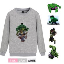 Marvel Comic Hulk Printed Personalise O-NECK Cotton Sweatshirts leisure Winter Unisex Sweatshirt A193291