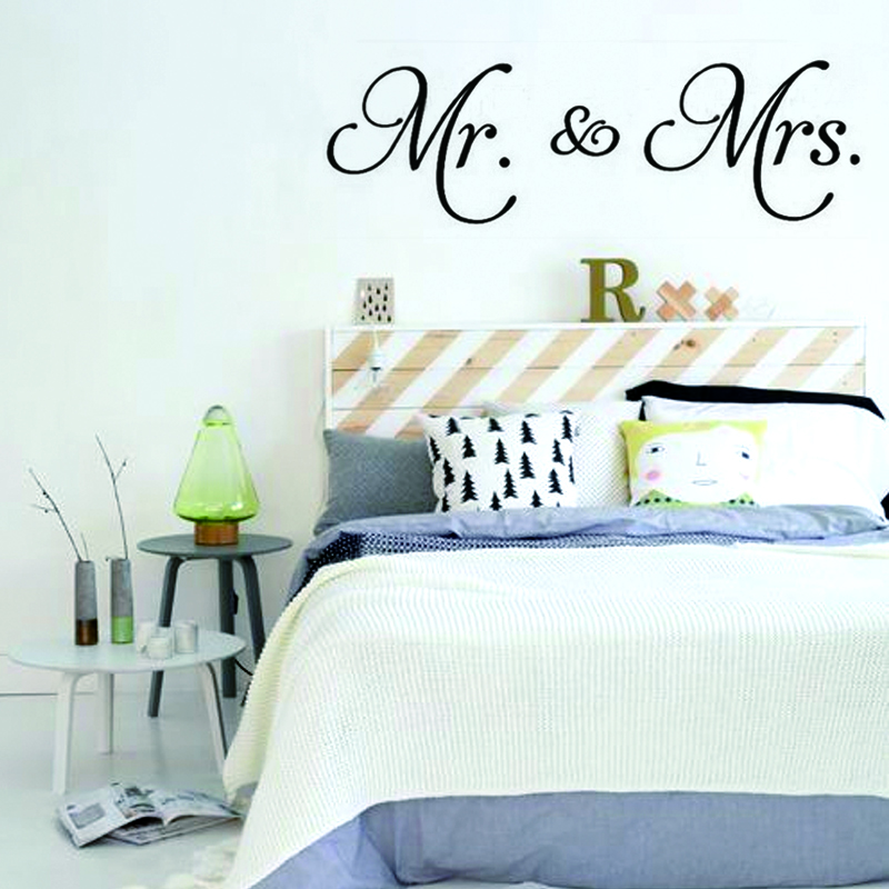 Awesome Mr U Mrs Diy Wall Stickers Vinyl Wall Decal Living Room Decor  Removable Convenient Size For Bedroom New Couplein Wall Stickers From Home  U Garden On ...