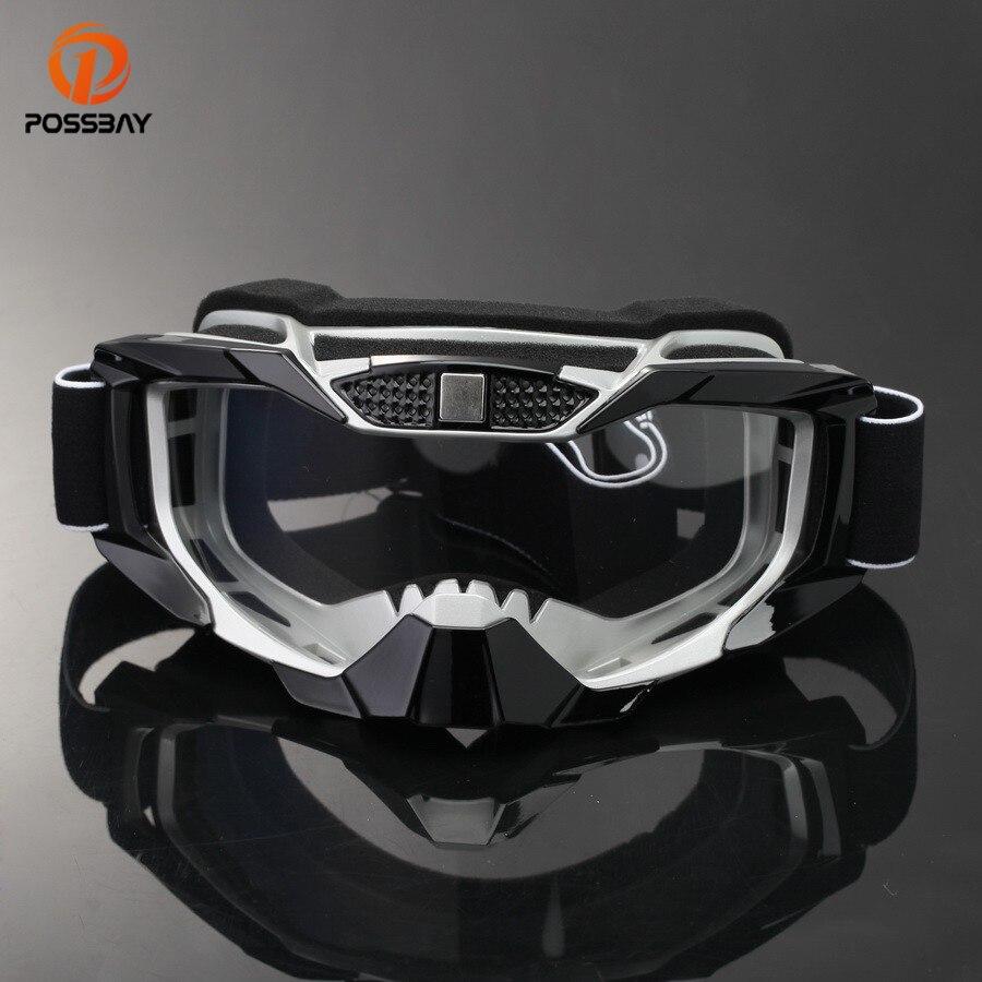 POSSBAY Óculos de Snowboard Óculos De Esqui óculos de Motocross Da Motocicleta Cafe Racer Dirt Bike Moto Culos Gafas Esporte Ao Ar Livre