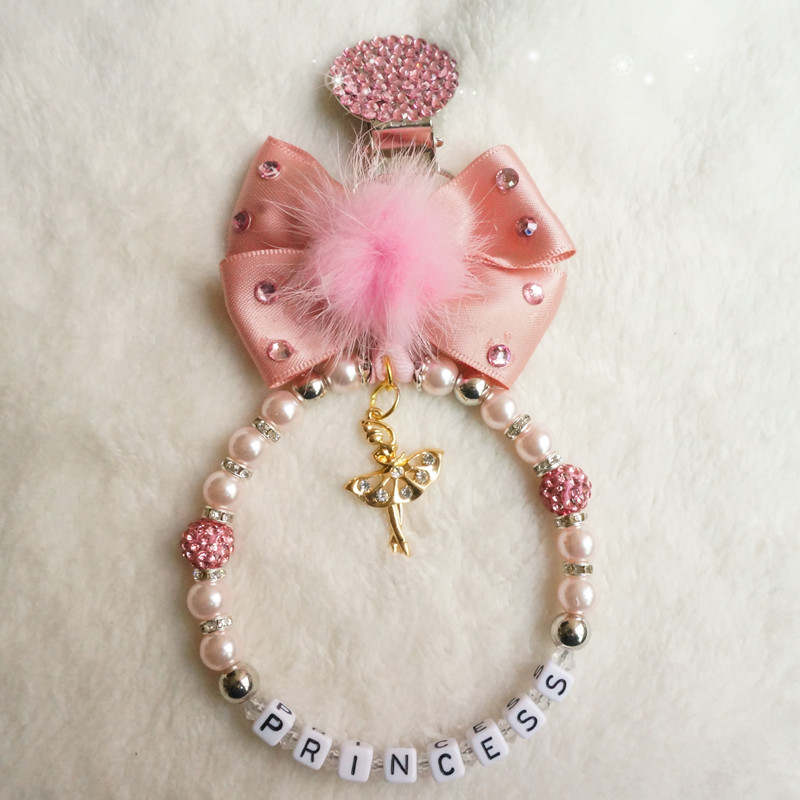 Personalised stunning pram charm in baby pink for baby girls ideal gift