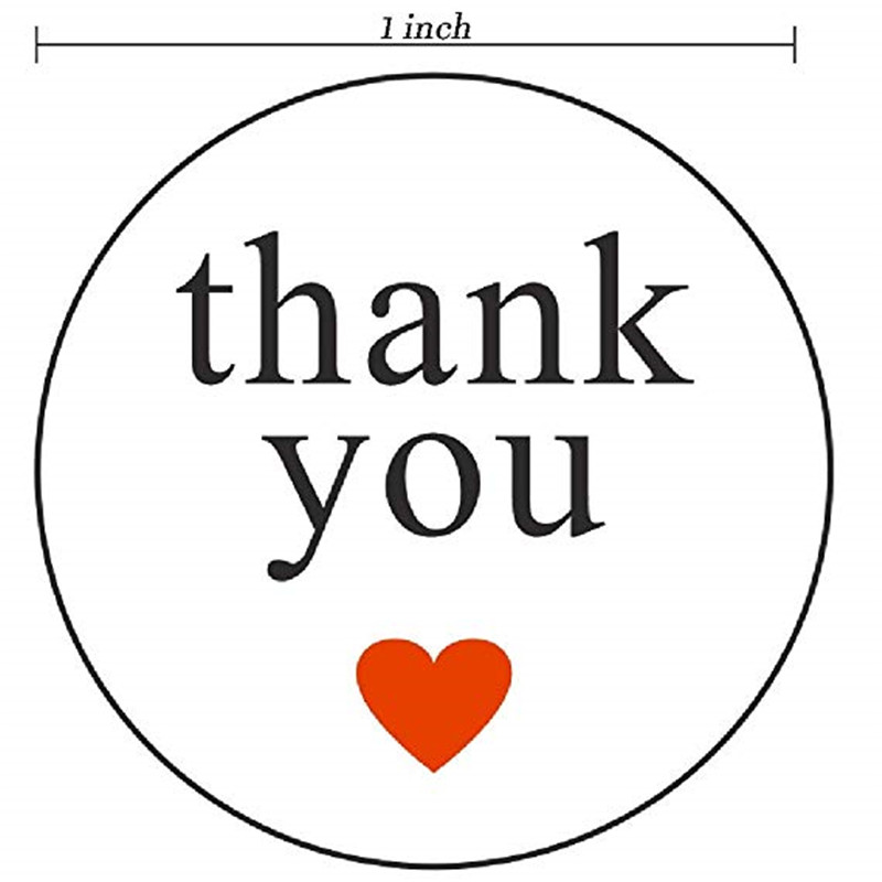 1 inch Round red love with thank you Stickers 500 Labels per roll for wedding decoration party decoration gift tags sticker in Party DIY Decorations from Home Garden