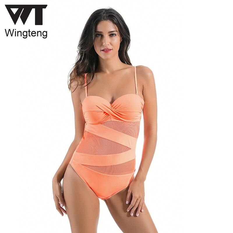 Wingteng One Piece Купальники женские - Спортивная одежда и аксессуары