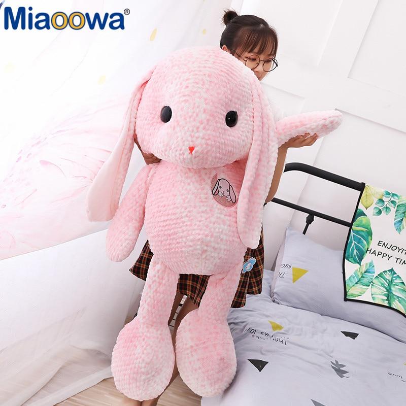 1pc 105CM Big Rabbit Plush Toy Soft Comfortable Padding For PP Cotton Baby Comfort Rabbit Toy