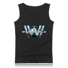 WESTWORLD Fashion Cotton Tank Top Men Sleeveless Shirt Clothing and West World Plus Size Summer Vests XXS 4XL