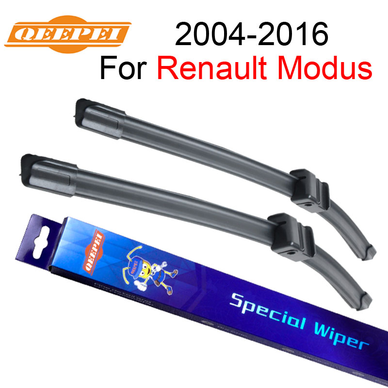 QEEPEI Front Wipers for Renault Modus 2004-2016 28''+26'' Car Rubber Wiper Blade Accessories for Auto Windshield,CPA116-2