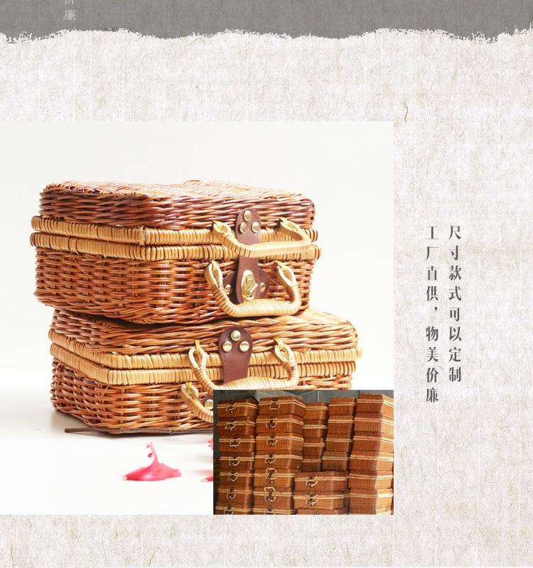 18 Summer Beach Bamboo Bag Straw Women Handbag Handmade Woven Bag Luxury Designer Tote Travel Clutch Lunch Bags snx008 30 OFF 8
