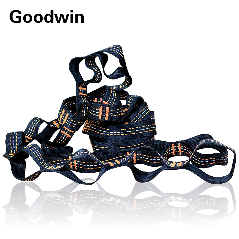 2X 2.8M Strong Strap Belt Hammock Tree Straps Hanging Straps Rope Super Multi-Player Hammock Strap Belt Flyknit Hamac Hamaca