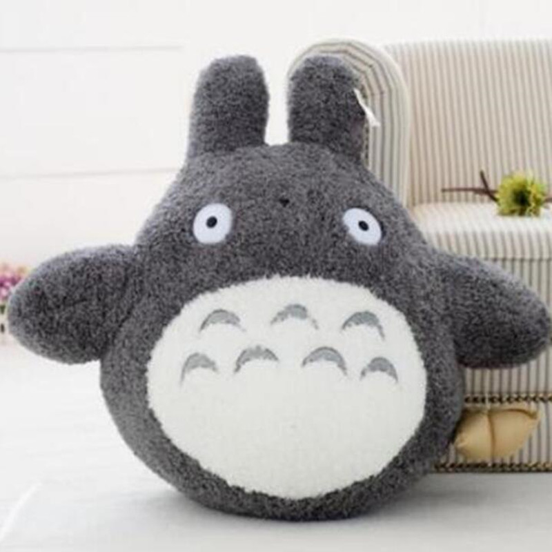 CXZYKING Japanese Anime Plush Soft Toy Gray My Neighbor Totoro Dolls Toys 7.6 Inch 18cm Mini Baby Plush Toy 7 5 inch pickle rick cucumber soft plush toy
