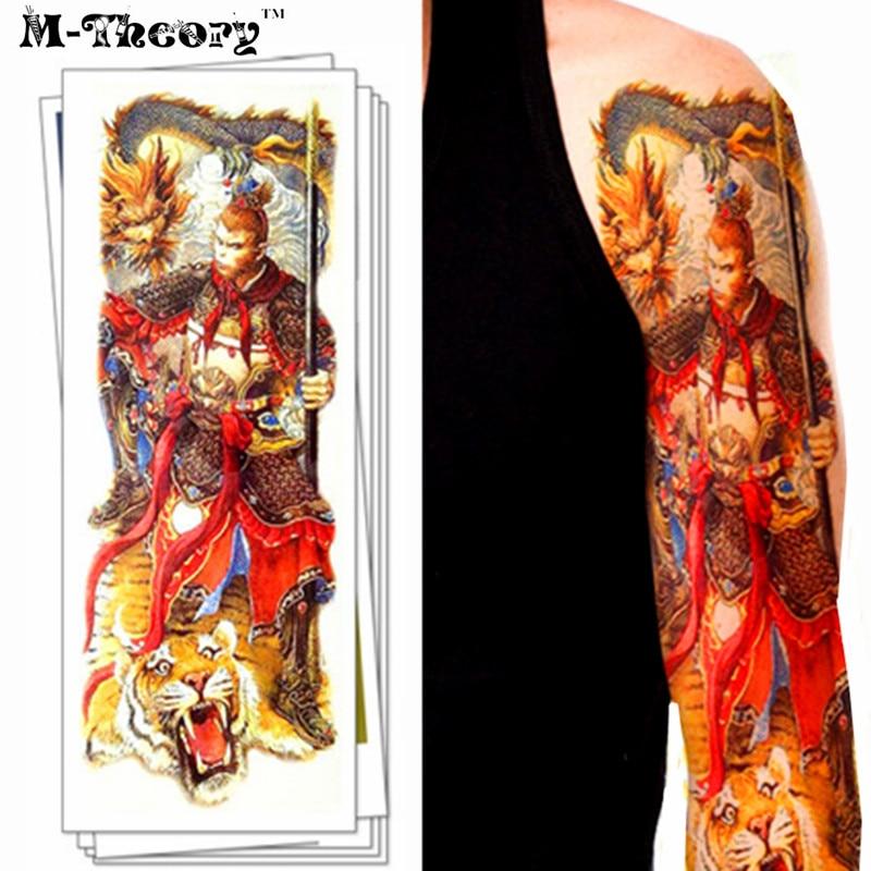 Full Body Henna Tattoo: Full Sleeve Makeup Temporary 3d Tattoos Sticker Henna Arm