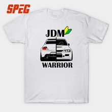JDM Warrior Car Printed T Shirt Men Short Sleeve 100% Cotton Quality Printing Round O Collar Tees Clothes Male XXXL