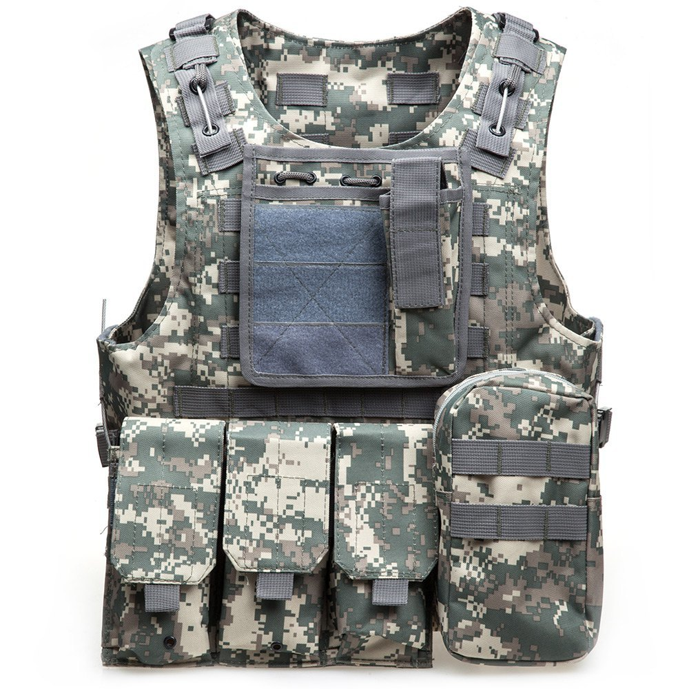 Camouflage Vest For Outdoort Fishing Hiking Hunting Accessories Amphibious Multi Pockets Military Tactical Airsoft Molle Carrier