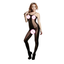 2d3e52c55c6 Lace Lingerie Bodysuits Sexy Sling Open Crotch Jacquard Slinky Stockings  Black Bodystocking Legging Jumpsuits Erotic Costumes