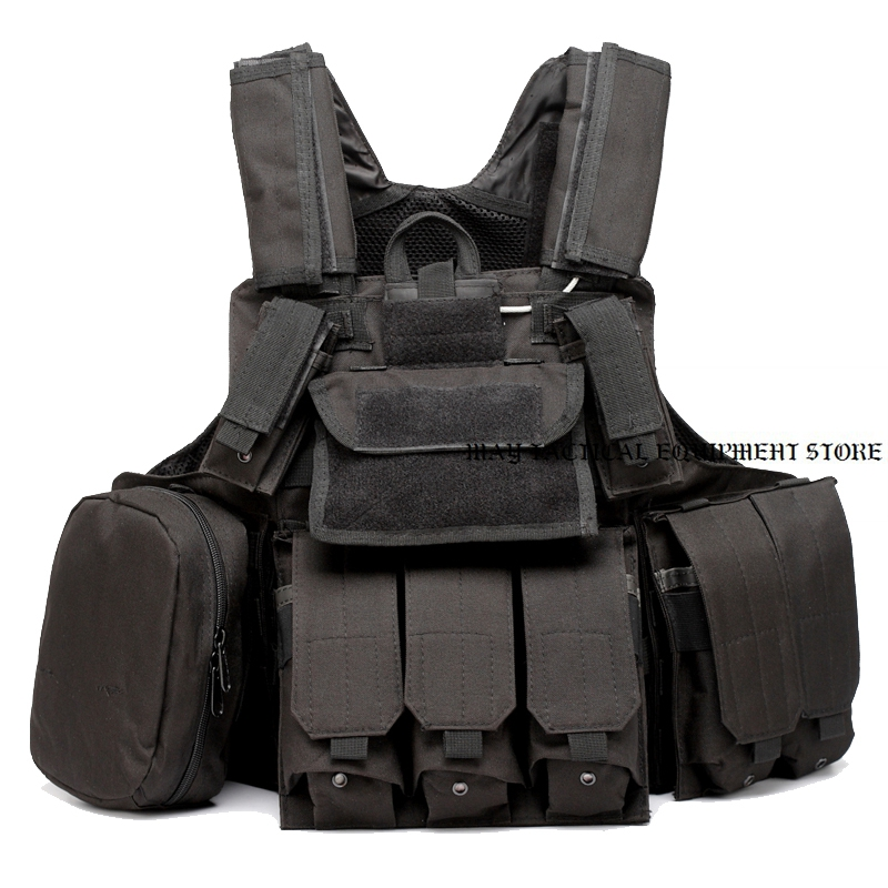 Paintball Airsoft Chest Protector Tactical Vest Outdoor Sports Body Camouflage Hunting Vest with Pouches 1000d nylon us navy seals molle lbt 6094 vest tactical military hunting paintball cs wargame protective vest w pouches