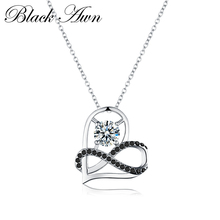 로맨틱 도착 925 Sterling Silver Fine Jewelry Trendy 약혼 Heart necklaces & pendants 대 한 Women Bijoux Femme P070(China)