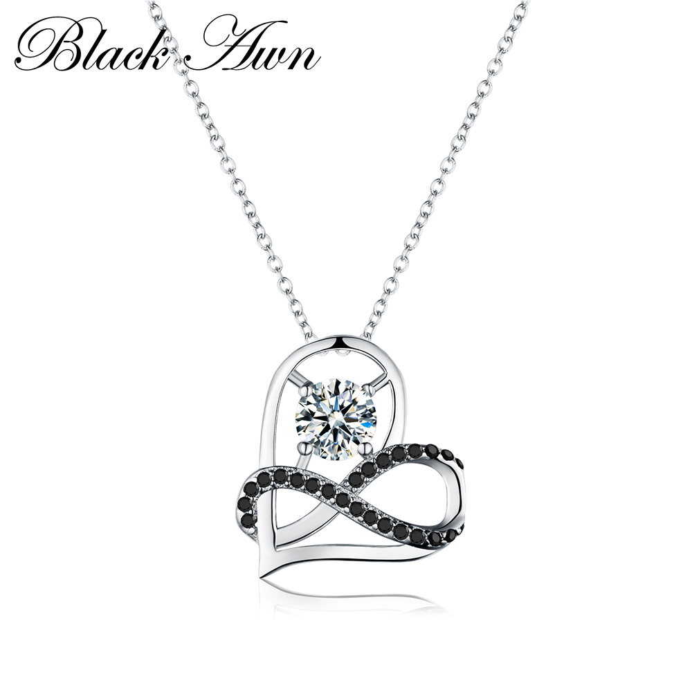 Romantic Arrive 925 Sterling Silver Fine Jewelry Trendy Engagement Heart Necklaces & Pendants For Women Bijoux Femme P070