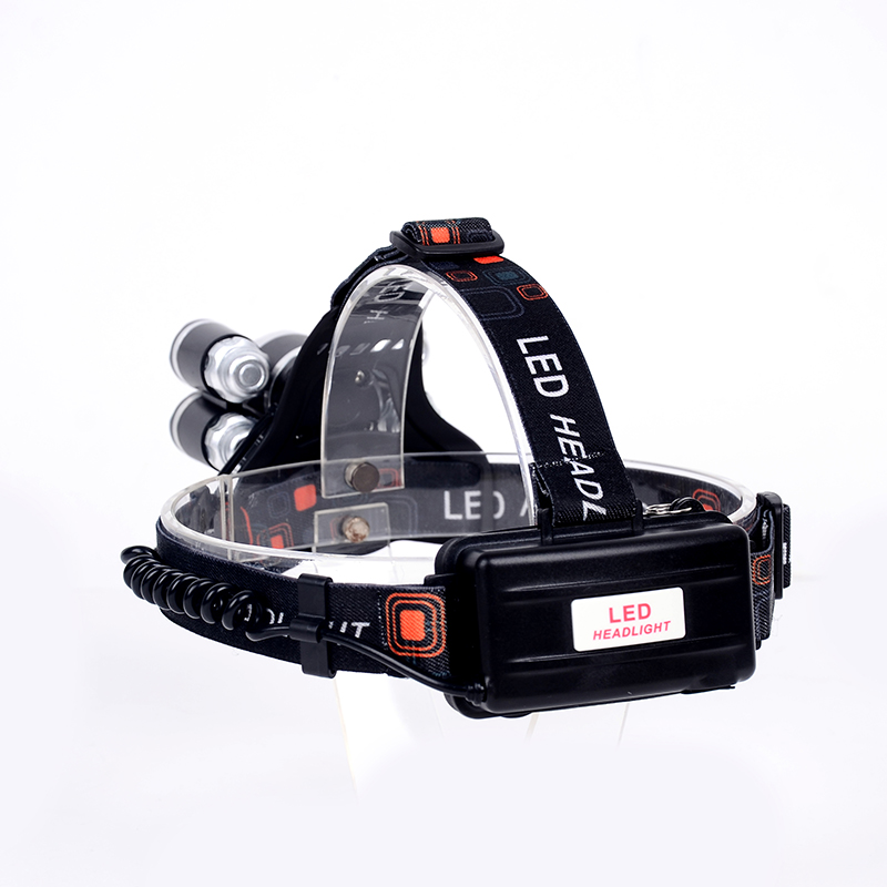50W rechargerable LED headlamp 12000 lumen XML-T6+4XPE head lamp 4 mode outdoor camping headlight+2*18650 battery+charger