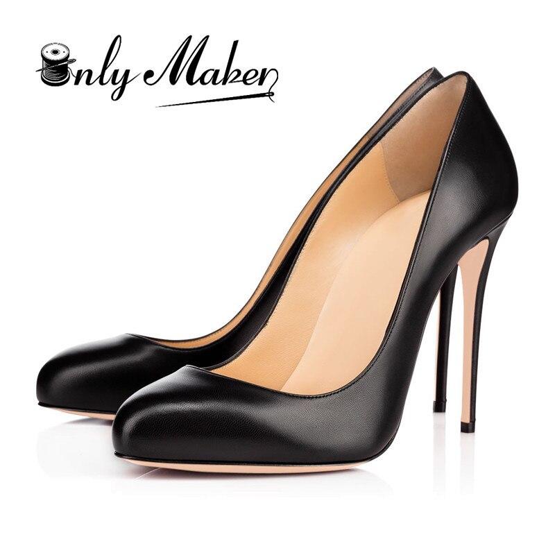 Onlymaker Design Women's Shoes Sweet  12CM High Heels Round Toe Woman Dress Wedding&Evening Pumps Shoes