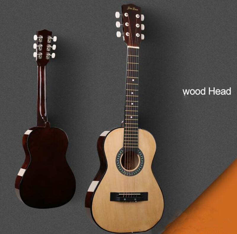 Top Quality 30 inch Folk Guitar Acoustic Guitar Children Guitar Wood Guitar 3 Color Free Shipping AGT05 30 34 36 inch novice guitar beginner folk guitar six chord little guitar
