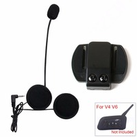 Altoparlante auricolare Microfono e Clip 3.5mm Jack Spina del Trasduttore Auricolare Stereo Per V6 intercom V4 interphone