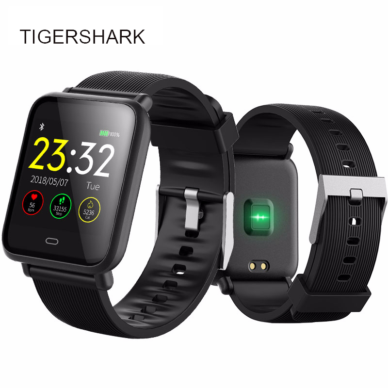 Bluetooth Smart Watch men TIGERSHARK Smartwatch For IOS Android Phone Call Remind Camera Calories Heart rate Reloj inteligente l 2 smart watch health metal smartwatch inteligente reloj with sleep monitoring bluetooth sedentary remind camera pedometer