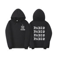Fear Of God Paul S Life Kanye West Pablo Hoodie Men Hip Hop Tracksuit Sweatshirts Pull