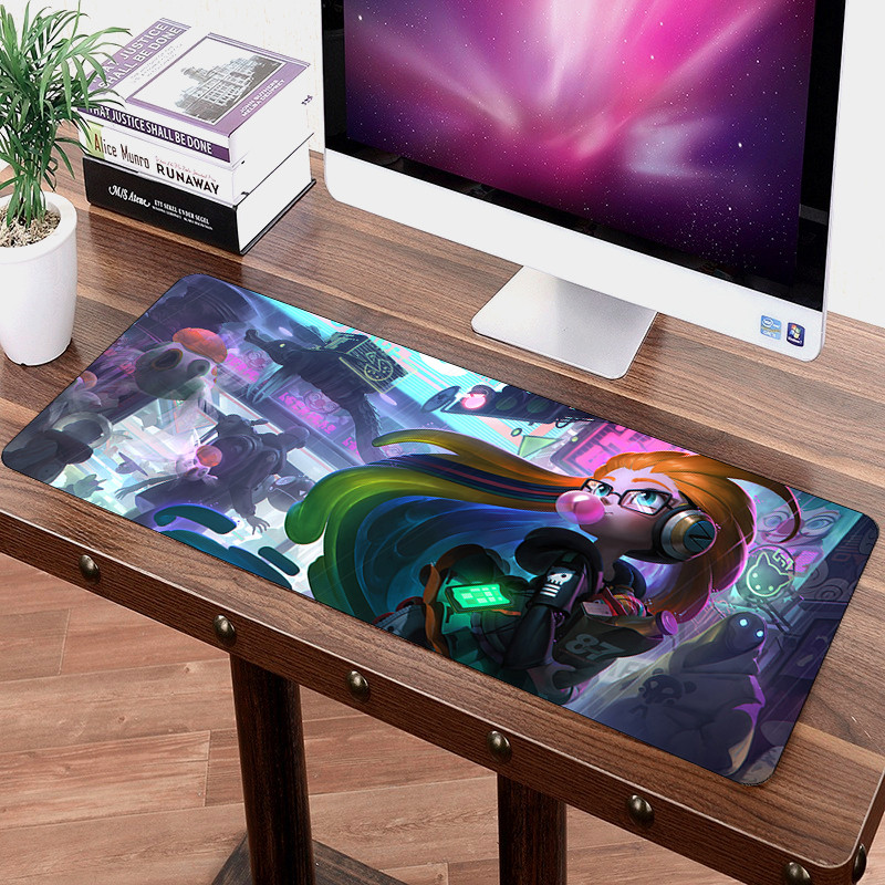 Large LOL Mouse Pad 70x30cm Speed Game Gamer Gaming Non-Skid For Tablet PC Latop Mat Zoe Kaisa Sexy Girl Mousepad