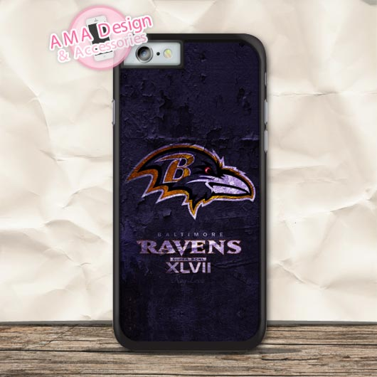 Baltimore Ravens Football Case For iPhone X 8 7 6 6s Plus 5 5s SE 5c 4 4s For iPod Touch