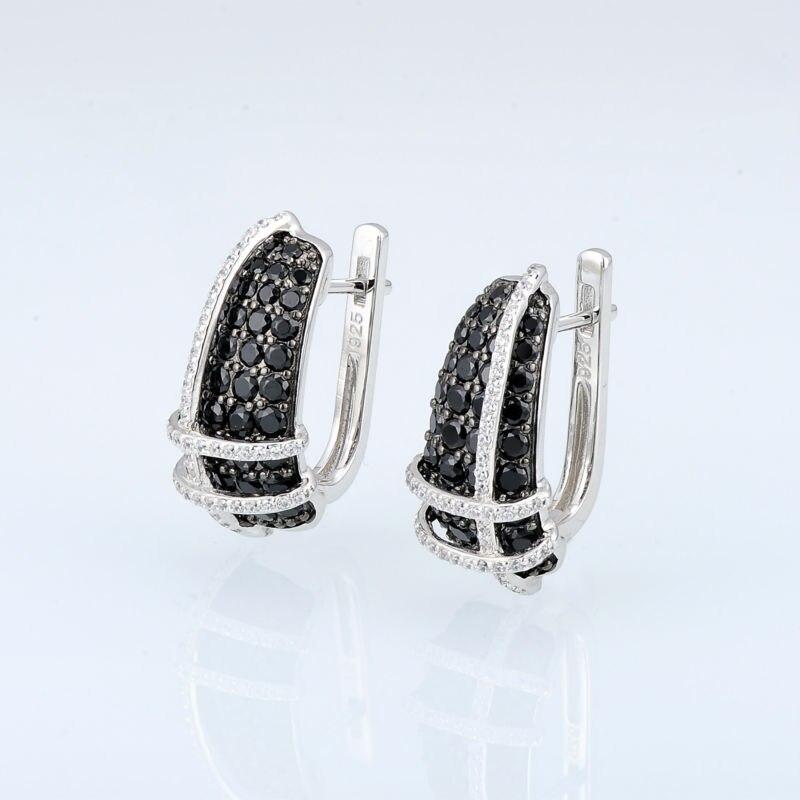 E303053BSNZSK925-SV4-Silver Earrings