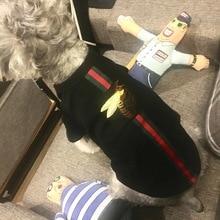 Зеленая змея красная змея роза Мед четыре стиля вышитые ткани наклейки ПЭТ модный свитер щенок с коротким рукавом кошка футболка тромб