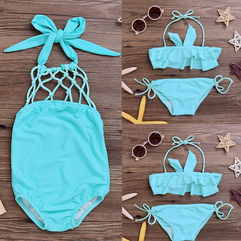 7ff431dfe61 2 7Y Kids Baby GirlsTankini Bikini Set 2017 Hot Sale Swimwear Swimsuit  Bathing Suit Beachwear Trikini New Swimming Suit For Kids-in Children's  One-Piece ...