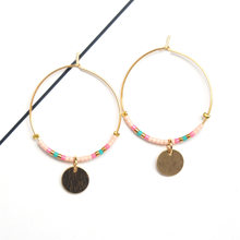 gold fashion jewelry hoop earrings handmade Japan MIYUKI Delica Beads for women gift boho style(China)