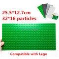 4 unids/lote! 32*16 placa base 25.5*12.7 cm pequeño edificio partículas bloques placa base con agujeros diy juguetes compatibles
