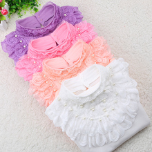 Children Bottoming Shirt Autumn and Winter 2016 Kids Clothes Fashion Cotton Long-sleeved Basic T-shirt Student Girls Lace Tops