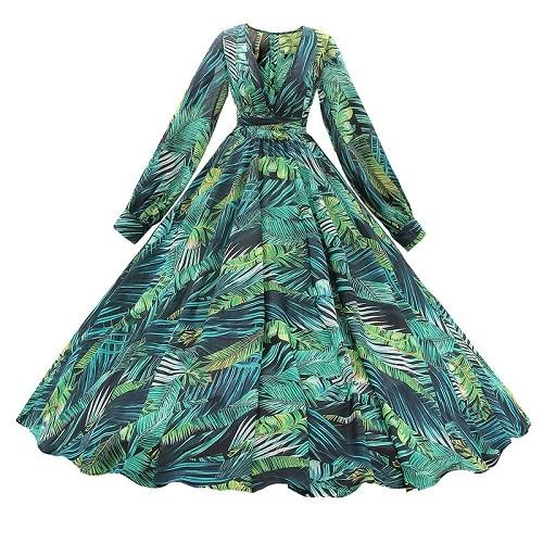 AECU Vestido Floral Print Boho Maxi Dress Sexy Lady Bohemian Summer Long Dress Women Beach Dresses Female robes strand jurkjes 4